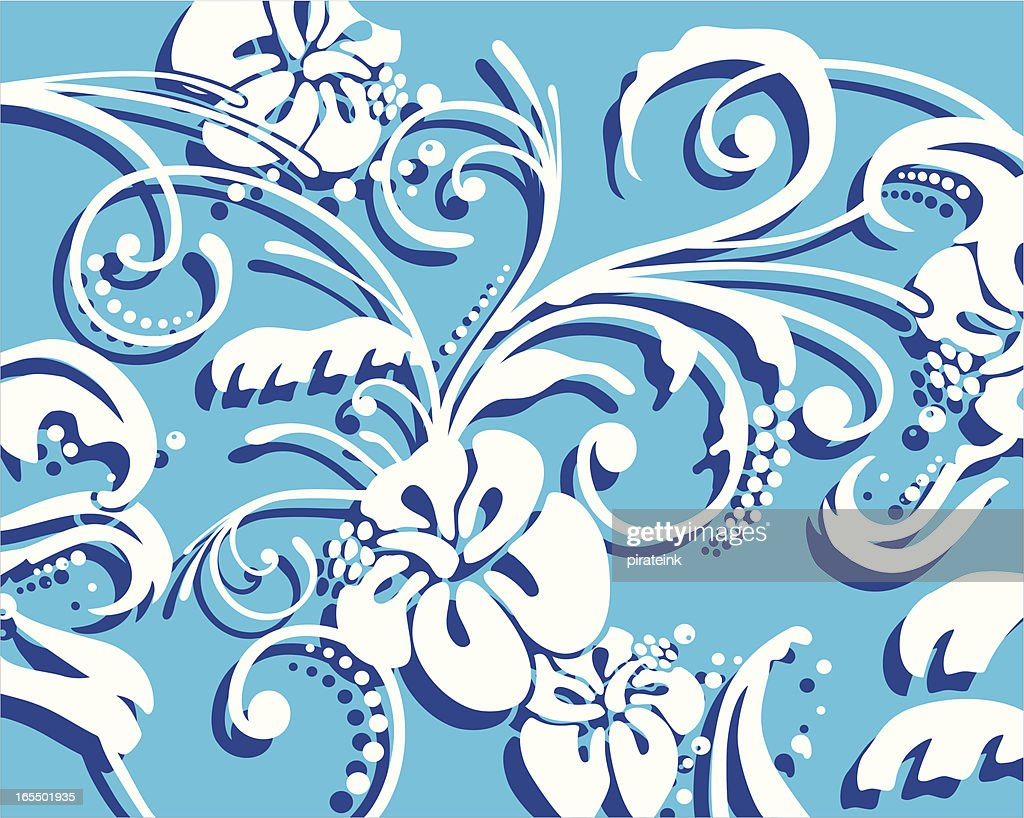 Hawaiian Floral Background High Res Vector Graphic Getty Images