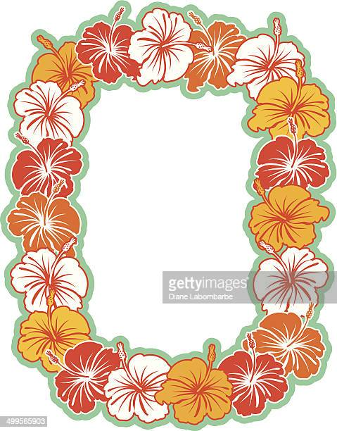 Hawaiian Hibiscus Wreath Background
