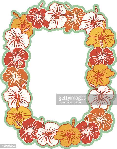 Hawaiian Hibiscus Wreath Background