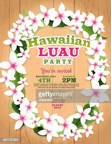 Hawaiian Luau Invitation Design Template Vector Art Getty Images - Luau invitation template