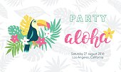 Hawaiian party banner template