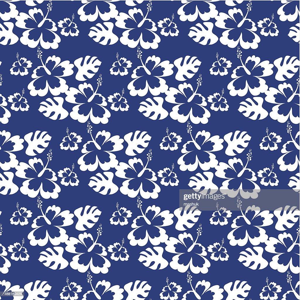 Hawaiian seamless pattern : stock illustration