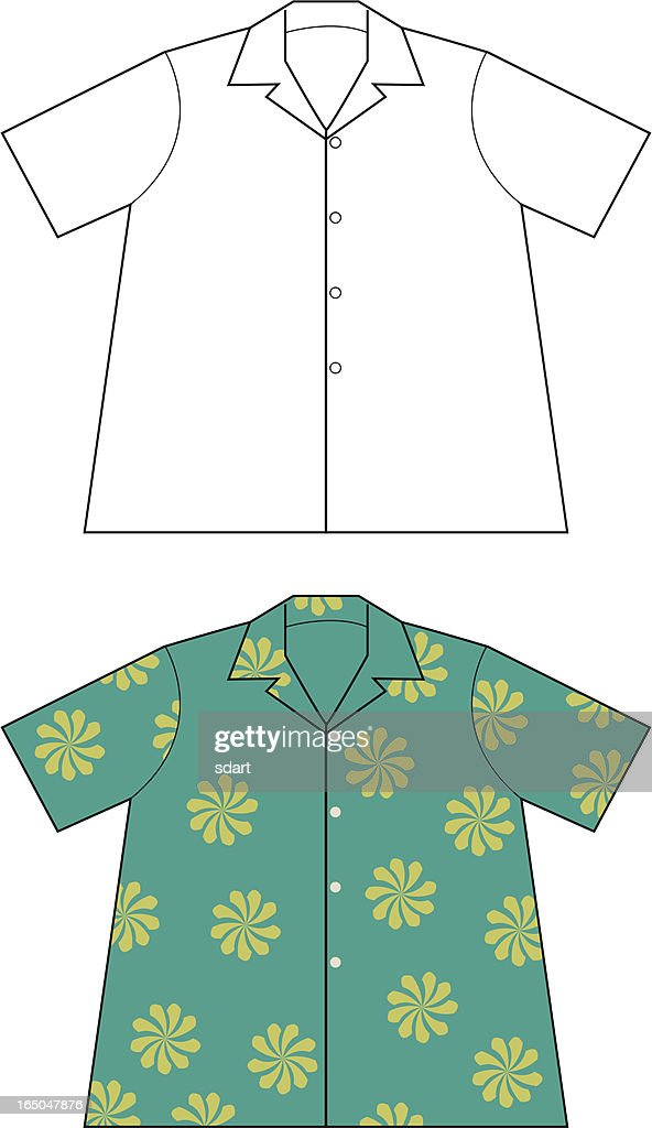 Hawaiian Shirt Stock Illustrations And Cartoons