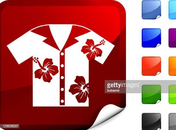 hawaiian shirt internet royalty free vector art - hawaiian shirt stock illustrations