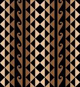 Hawaiian Tribal Decorative Pattern Seamless Design