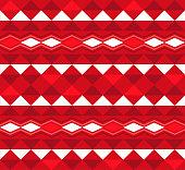 Hawaiian Tribal Red Decorative Pattern Seamless Design