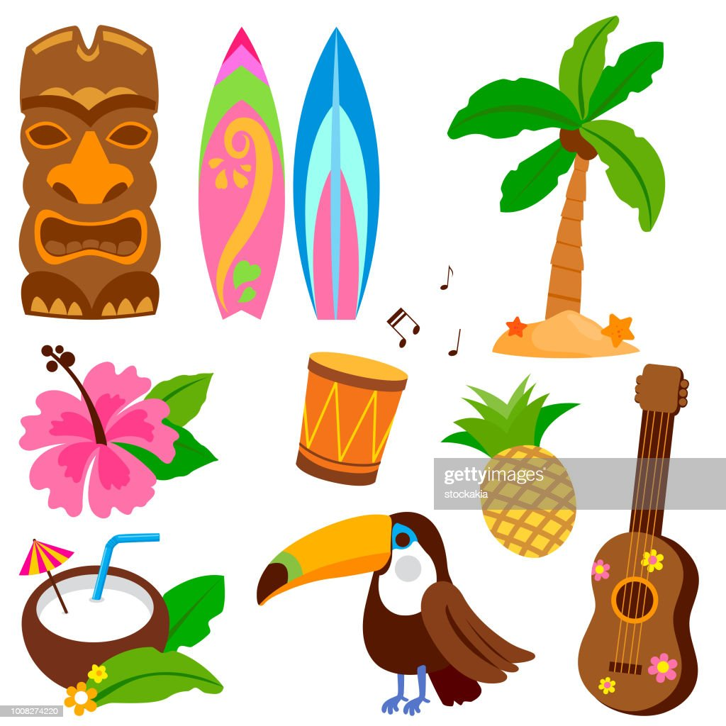 Hawaiian vector collection
