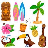 Hawaiian vector collection