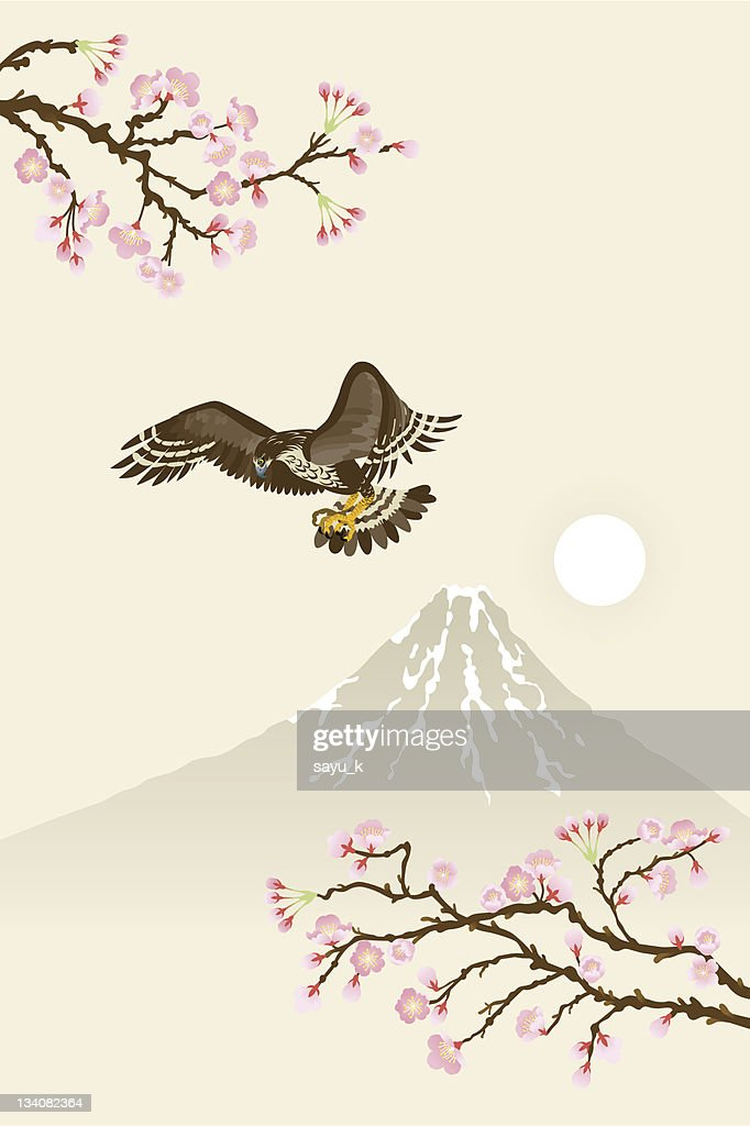 Hawk and sakura