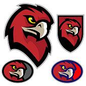 Hawk Head Mascot