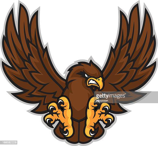 hawk mascot - hawk bird stock illustrations, clip art, cartoons, & icons