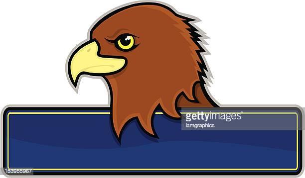 hawk sign - falcon bird stock illustrations, clip art, cartoons, & icons