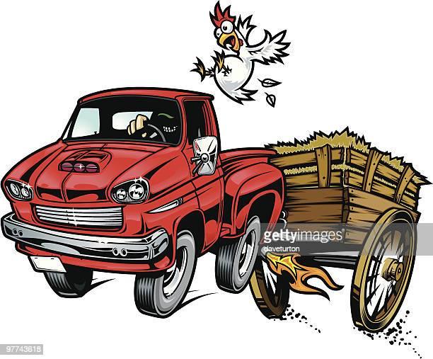 hay ride yeeeehaaaaw - runaway vehicle stock illustrations, clip art, cartoons, & icons