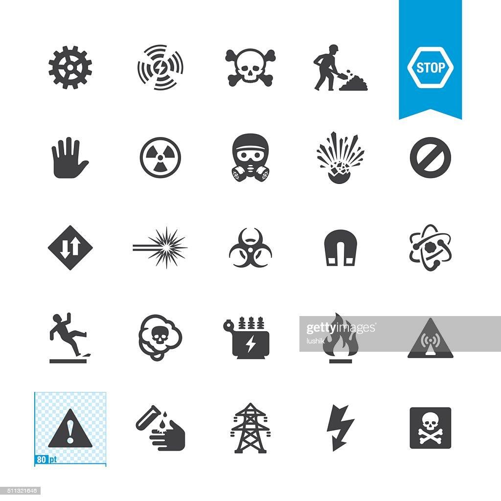 Hazard and Warning vector signs : stock illustration