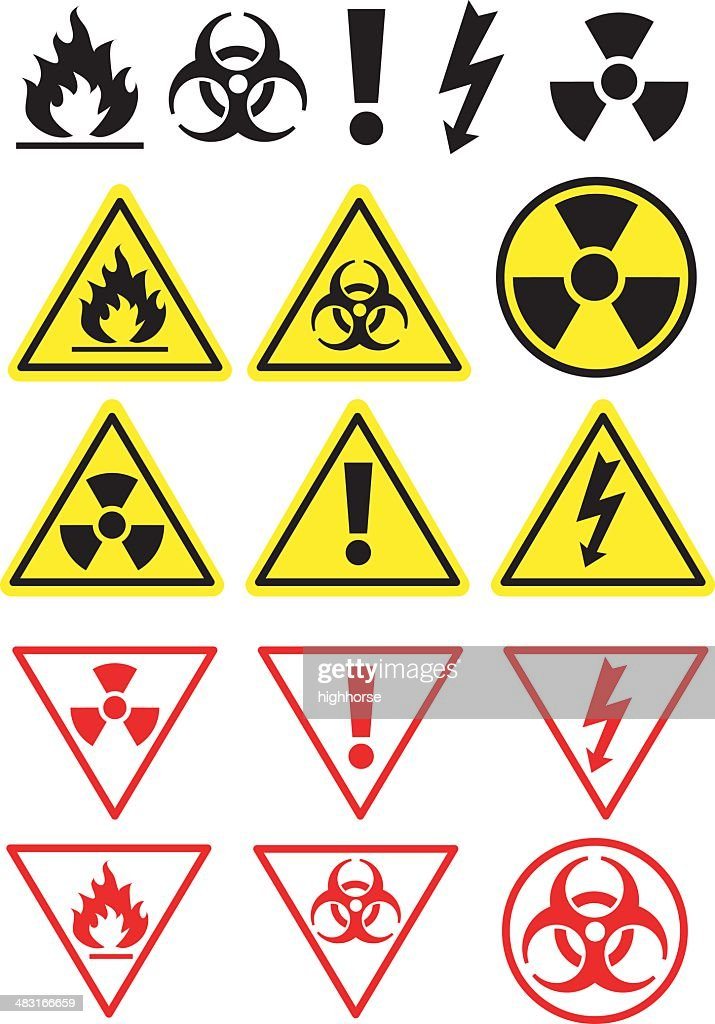 Hazard Icons and Symbols : stock illustration