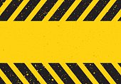 hazard sign with stripes
