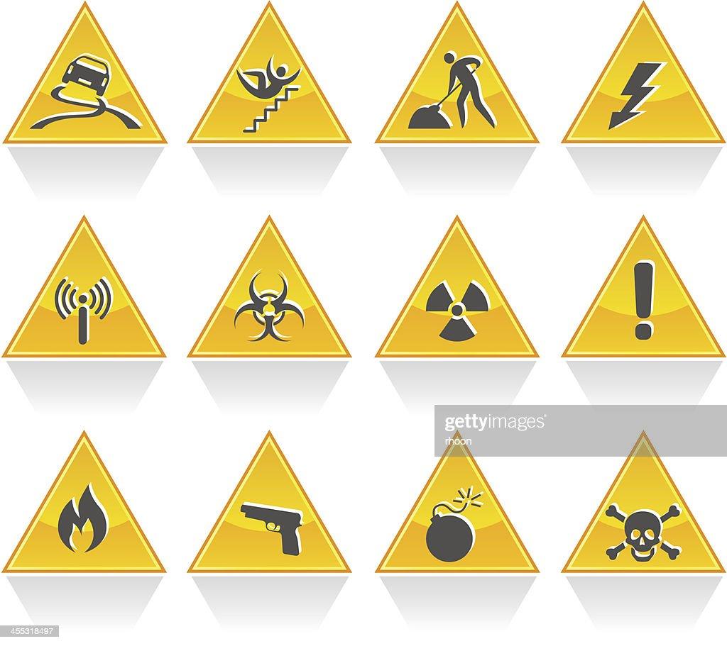 Hazard signs : stock illustration