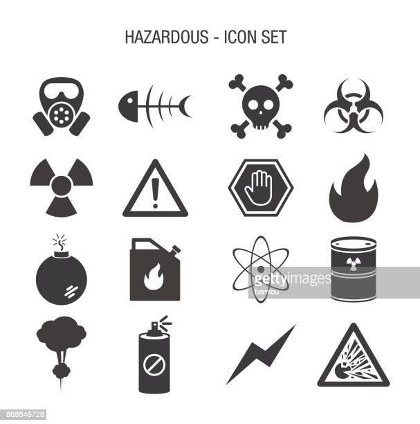 Hazardous Icon Set