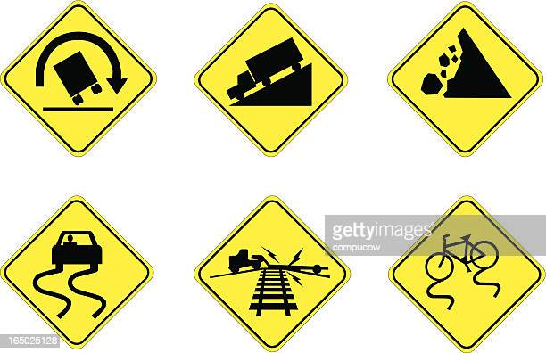 hazards ahead - steep stock illustrations, clip art, cartoons, & icons