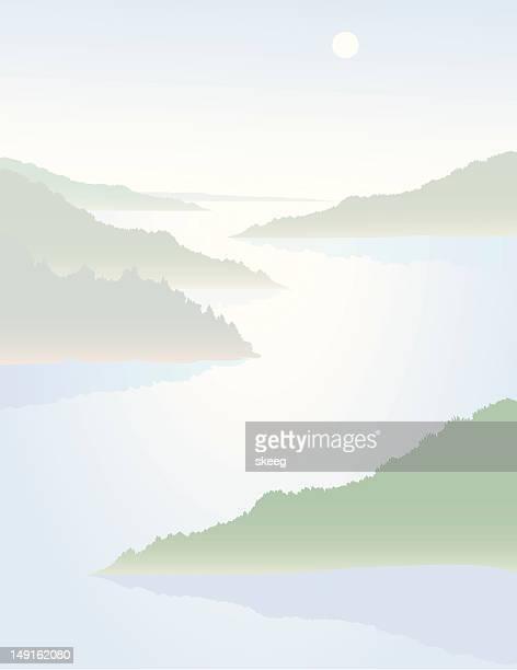 hazy river - humidity stock illustrations, clip art, cartoons, & icons