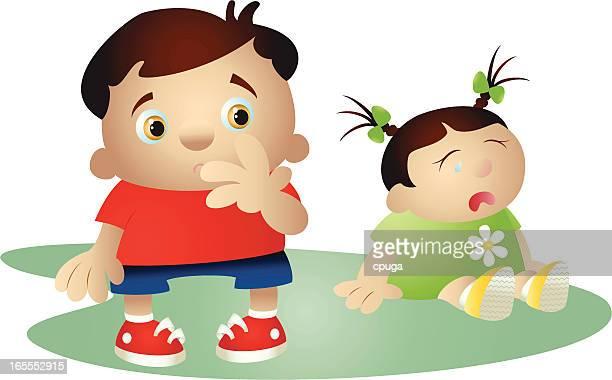 ilustraciones, imágenes clip art, dibujos animados e iconos de stock de me ha afectado. - bullying escolar