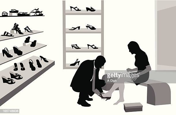He Sells Shoes Vector Silhouette