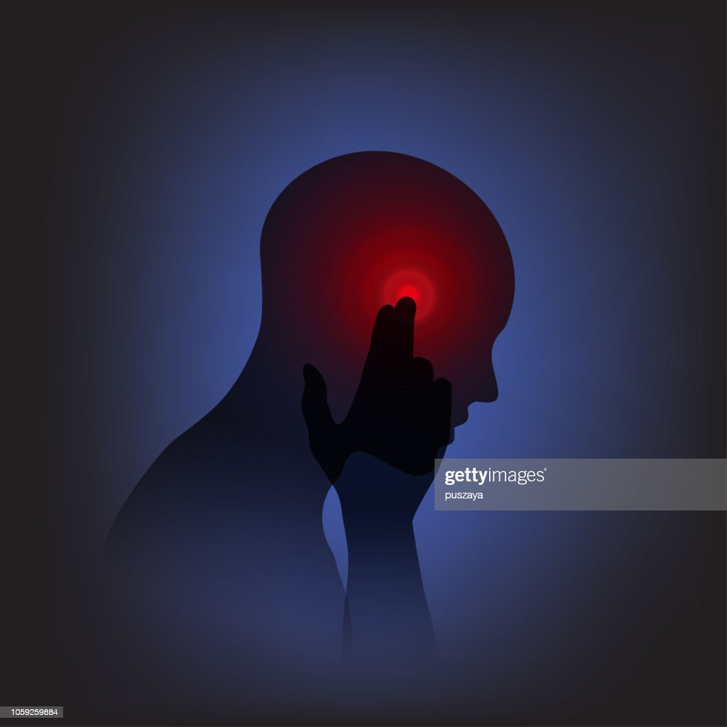 Head and  Pain : stock illustration