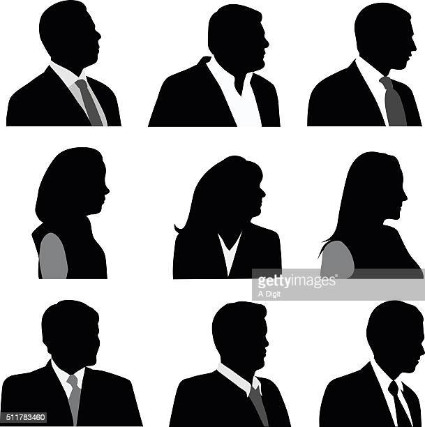 Head And Shoulders Business SIlhouettes