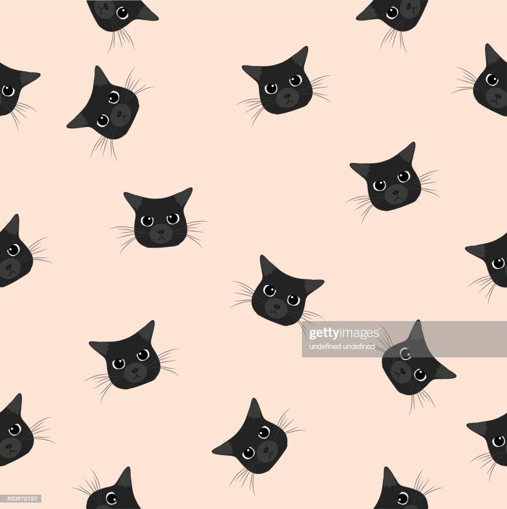 head black cat pattern
