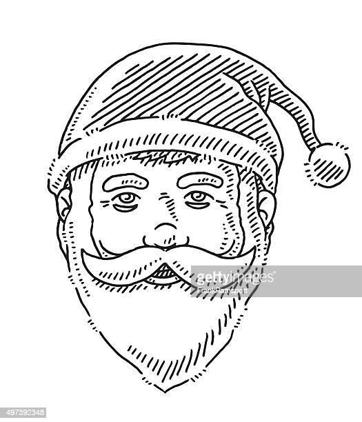 Head Happy Santa Claus Drawing