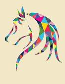 Head Horse geometric
