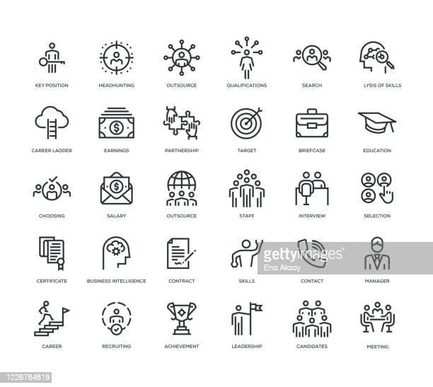 head hunting icon set - variation stock illustrations