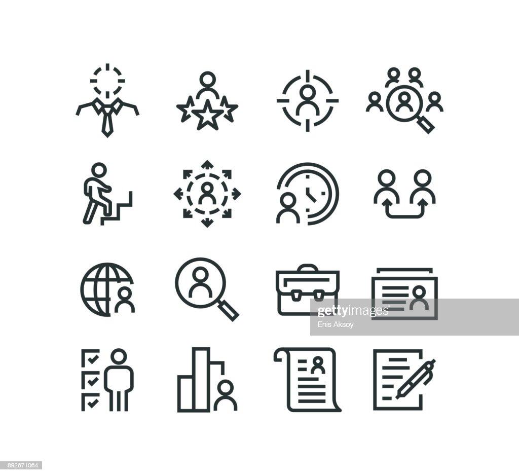Icônes de chasse de tête : Illustration