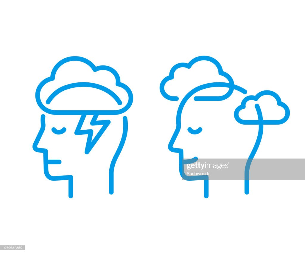 Head icon with cloud