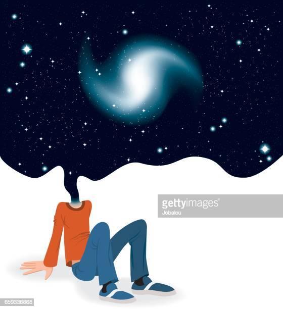 Kopf im Kosmos