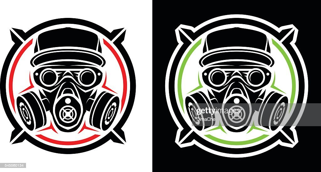 Head in respirator and cap