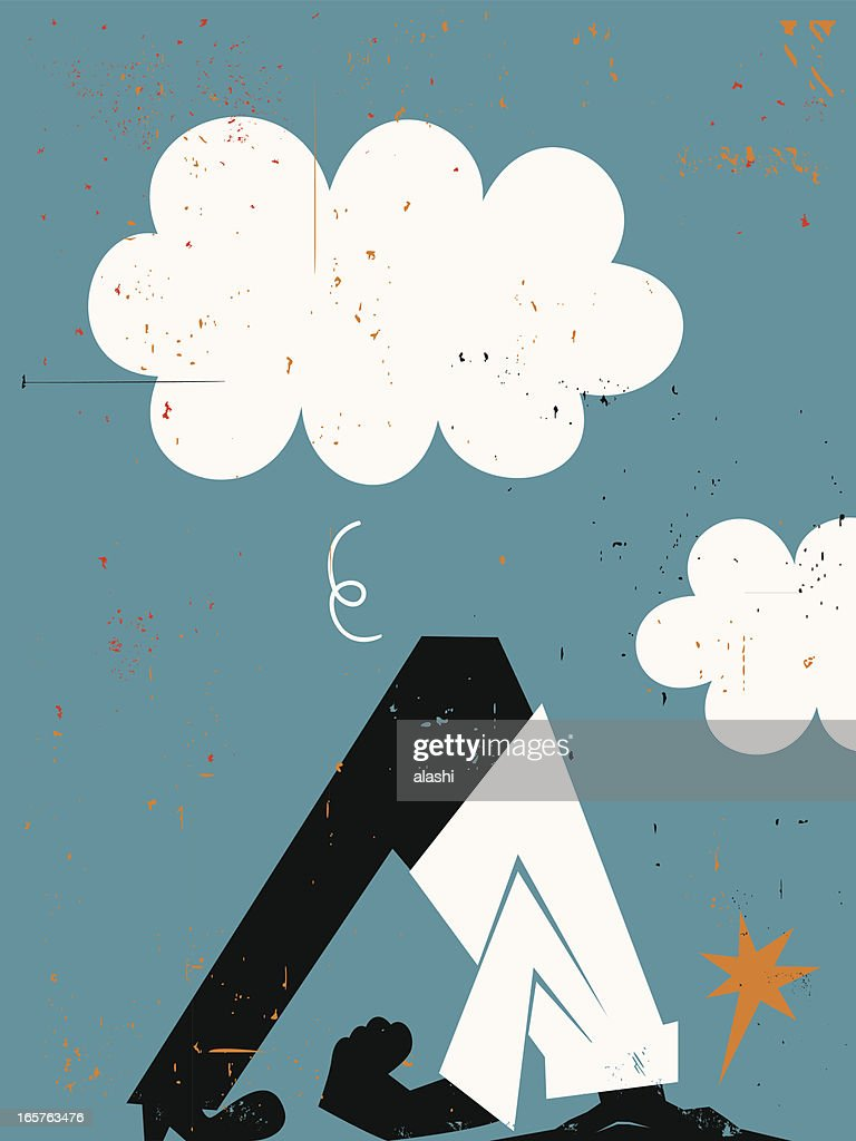 Head in the Sand : stock illustration