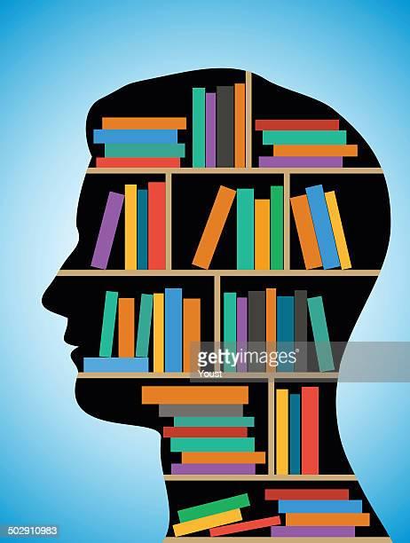 ilustrações, clipart, desenhos animados e ícones de siga a biblioteca - livro de capa dura