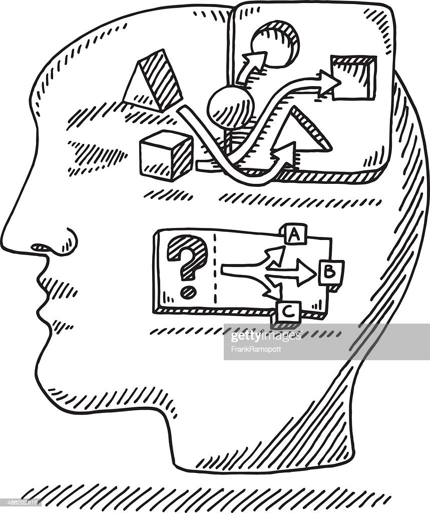 Head Logic Problem Solving Drawing Vector Art   Getty Images
