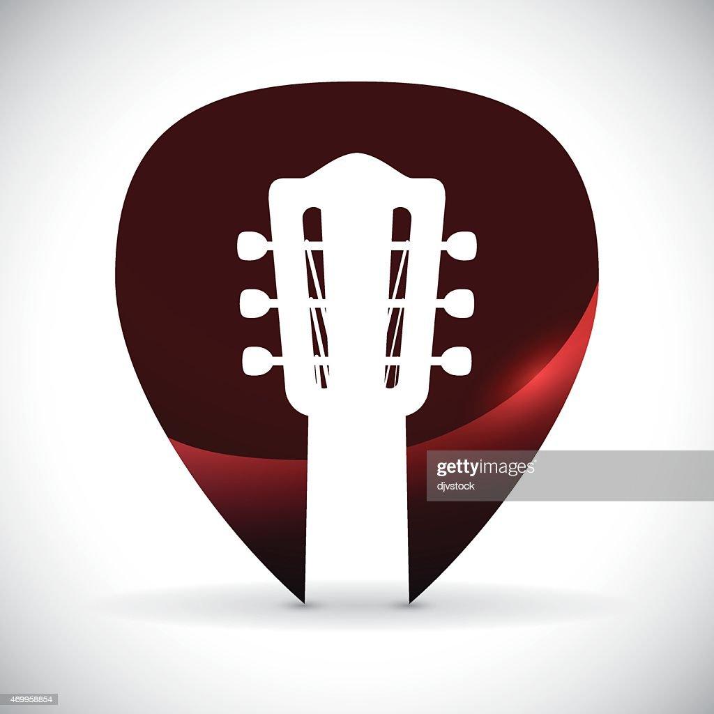 Head of a guitar designed into a guitar tab