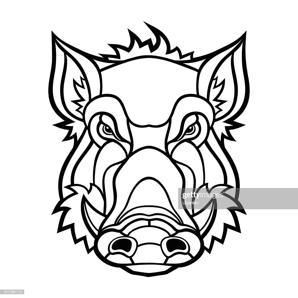 Head of boar mascot design