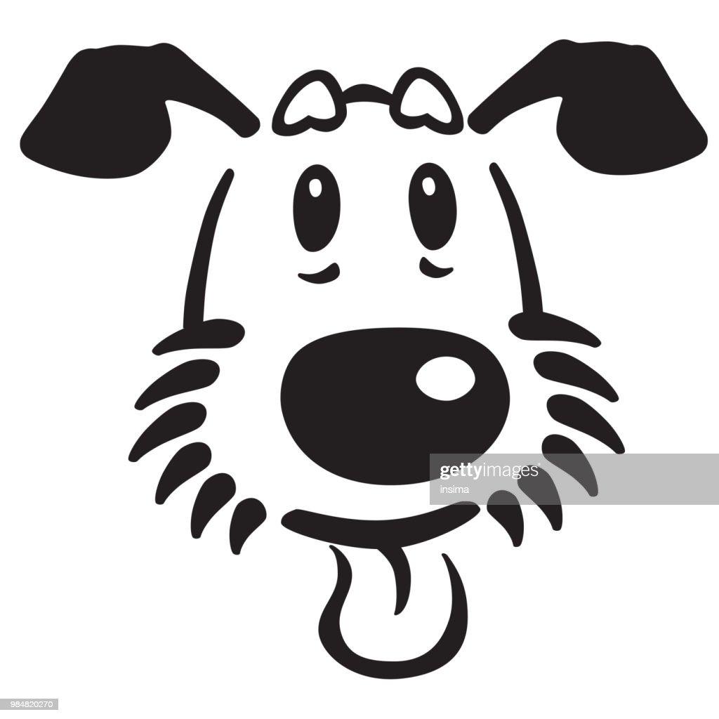 head of cartoon dog