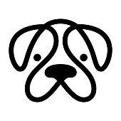 Head of dog. Vector icon