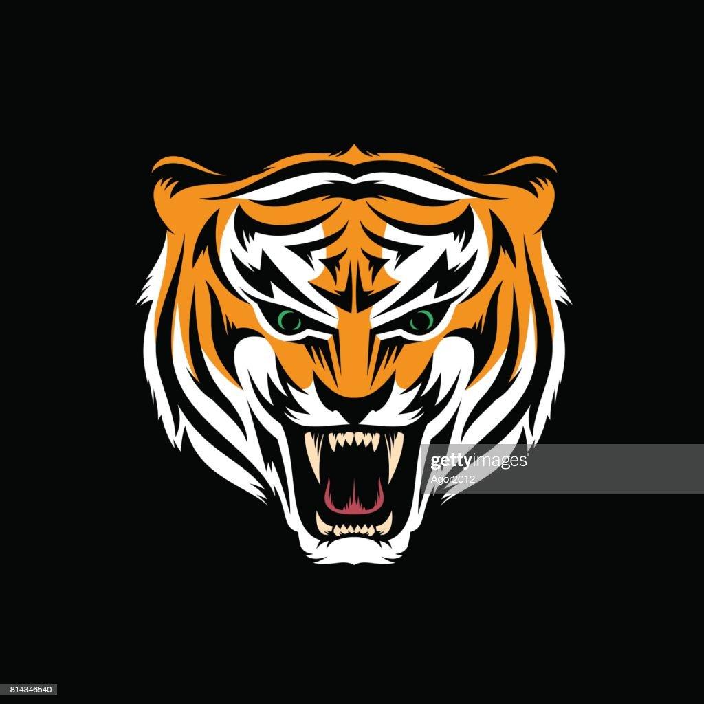 head of snarling tiger