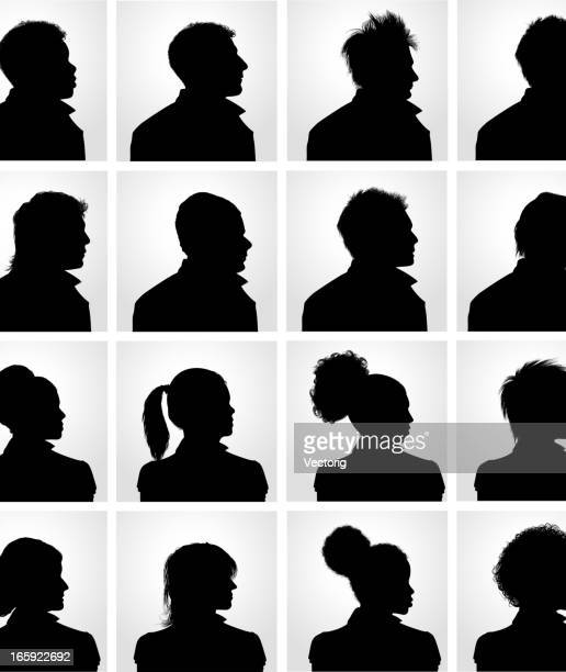 head profile silhouette - african ethnicity stock illustrations