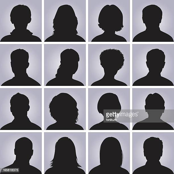 Head Silhouette Icons