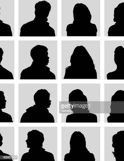 stockillustraties, clipart, cartoons en iconen met head silhouette - onherkenbaar persoon