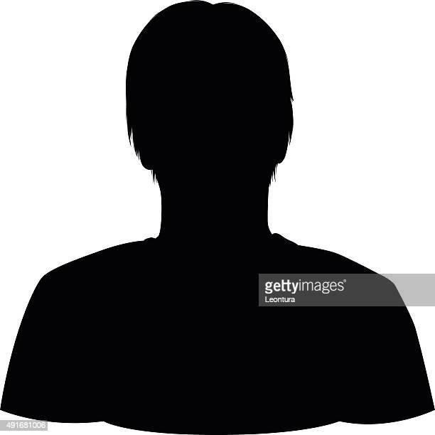 head silhouette - headshot stock illustrations