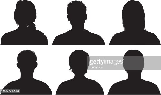 head silhouettes vector art getty images