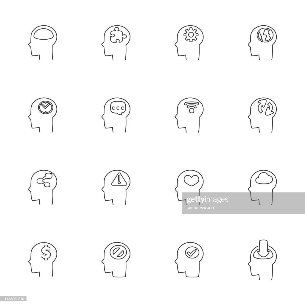 Cabeza : Ilustración de stock